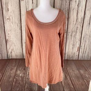 Soft surroundings knit cut out top size medium